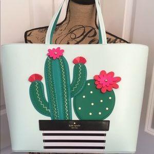 BNWT 🌶 Kate spade ♠️ 3D cactus 🌵 large bag 💼